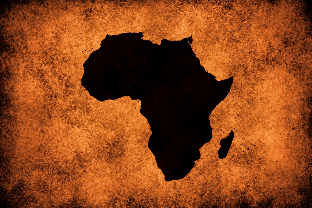 Black map of Africa. Picture: iStock