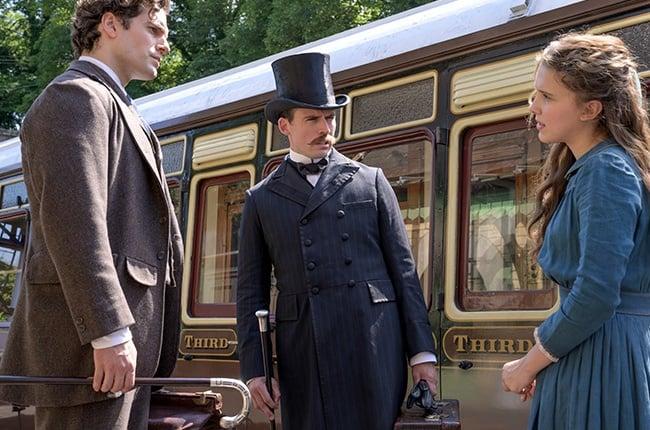 Henry Cavill as Sherlock Holmes, Sam Clafin as Myc