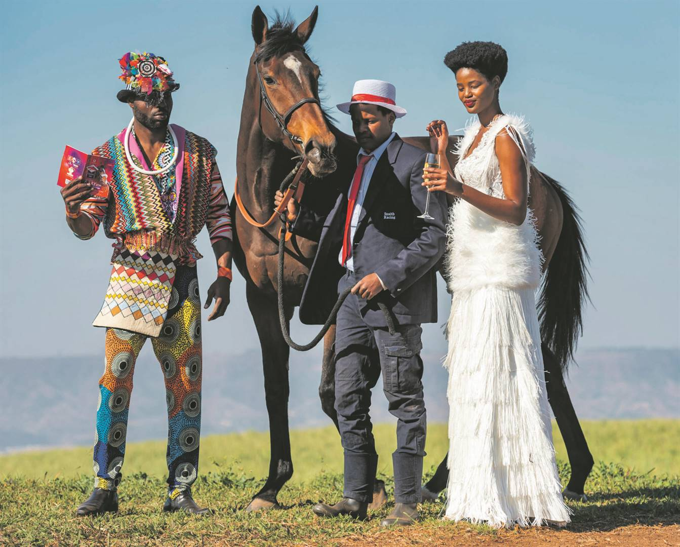 Blast from the past: Revellers at a previous Vodacom Durban July