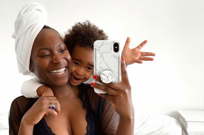 Takkies and her daughter, Sana