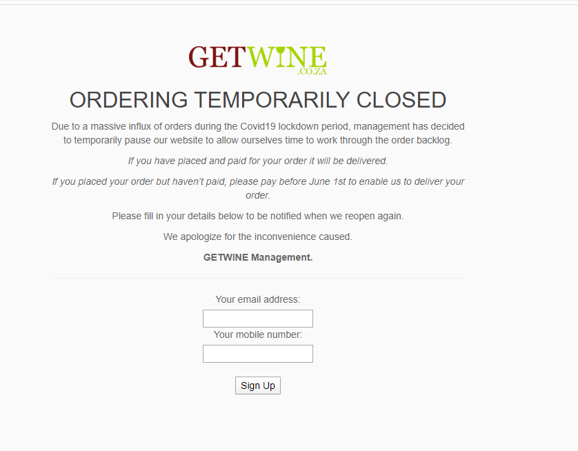 After flood of booze sales, one of SA's biggest online wine stores has stopped taking new orders - Business Insider South Africa