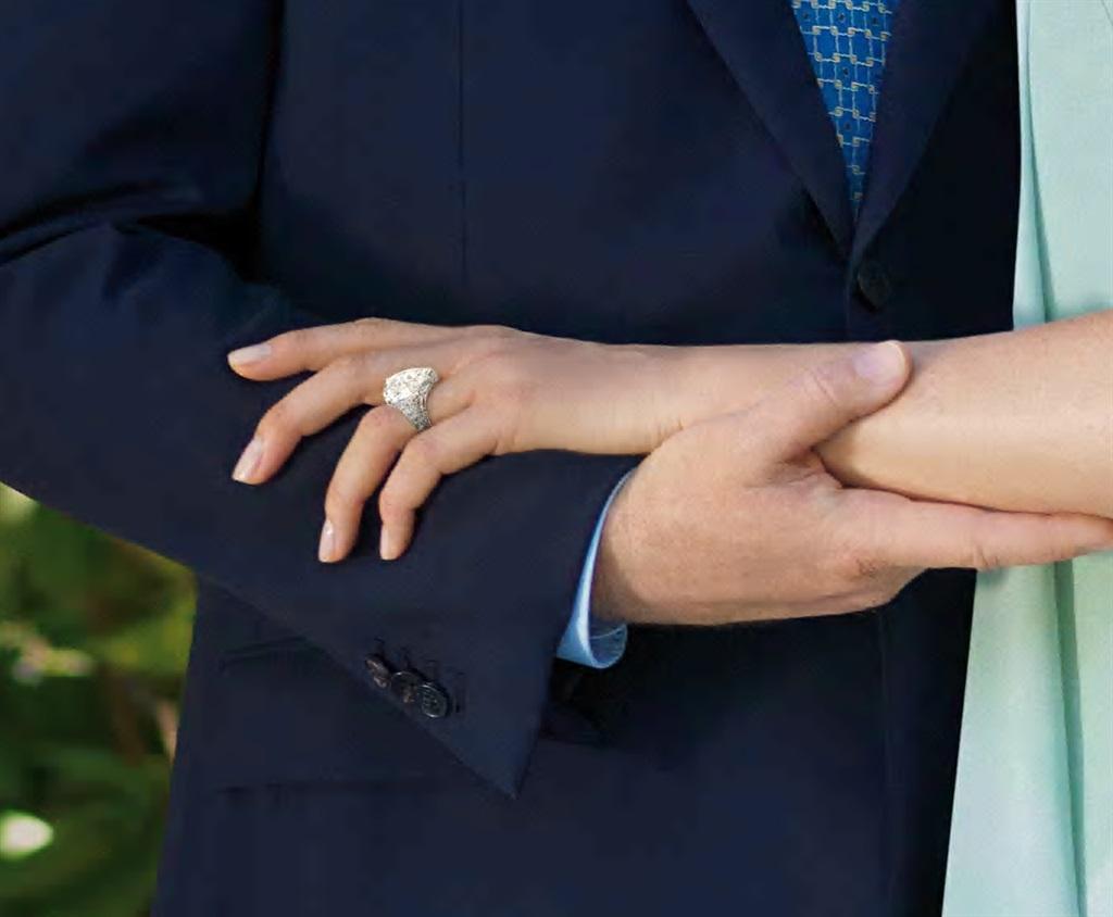 Die indrukwekkende Repossi-ring wat Albert aan Cha
