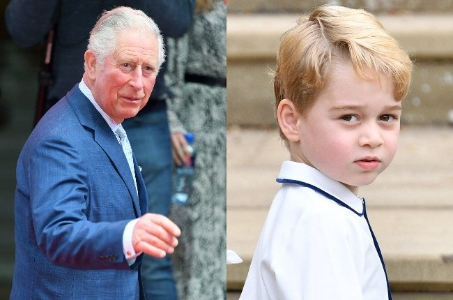 Prince Charles and Prince George. (Photo: Getty Images)