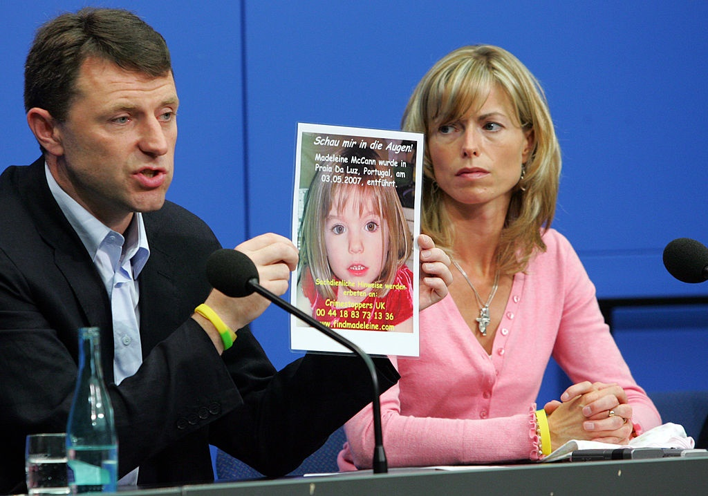 Kate and Gerry McCann, the parents of the missing 4-year-old UK girl Madeleine McCann.