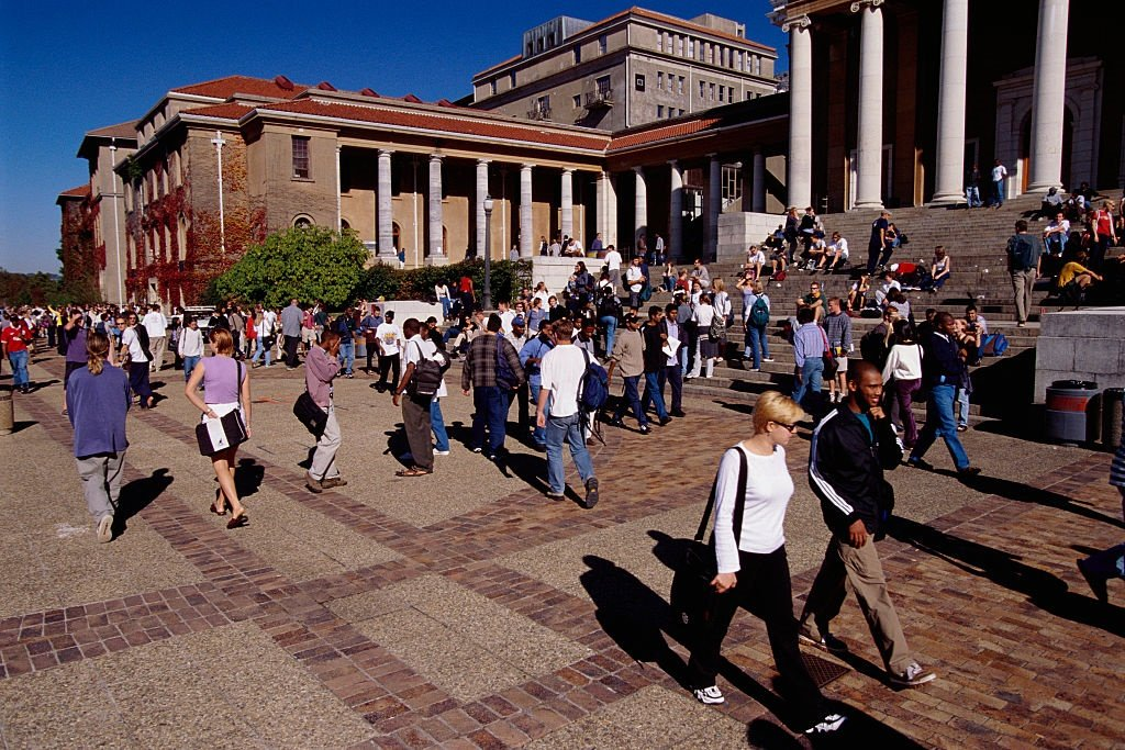 Students at the University of Cape Town.