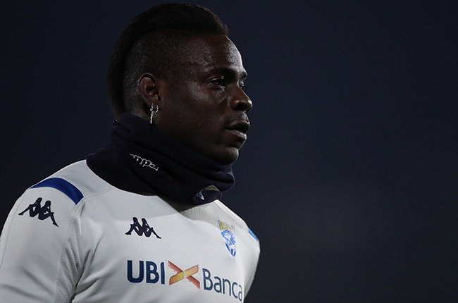 Brescia striker Mario Balotelli during the Serie A match against Napoli at Stadio Mario Rigamonti on 21 February 2020. (Photo by Jonathan Moscrop/Getty Images)