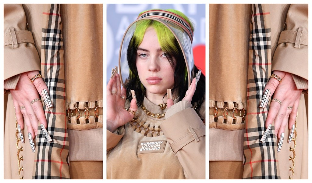 Billie Eilish attends The BRIT Awards 2020 at The O2 Arena on February 18, 2020 in London, England. (Photo by Gareth Cattermole/Getty Images)