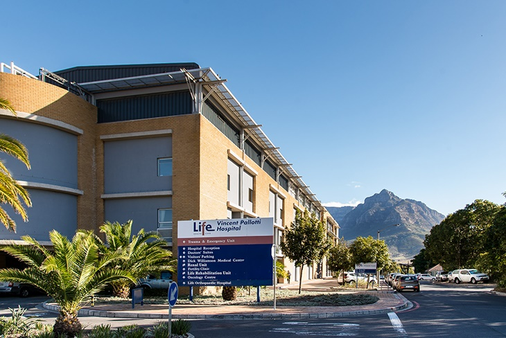 Life Healthcare's Life's Vincent Pallotti hospital in Cape Town.