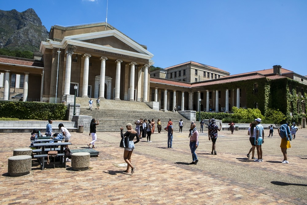A general view of the University of Cape Town on January 21, 2020 in Cape Town.