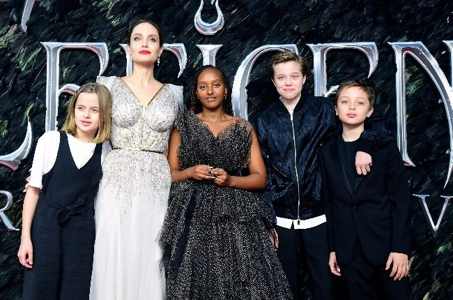 Angelina Jolie and her kids. (Photo: Getty Images)