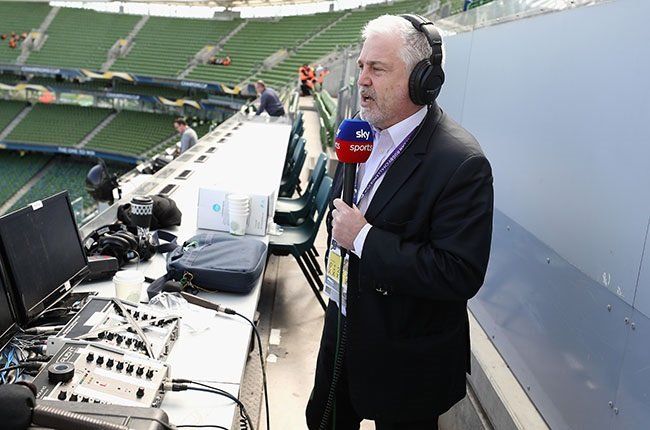 English rugby commentator Stuart Barnes. (Photo by David Rogers/Getty Images)