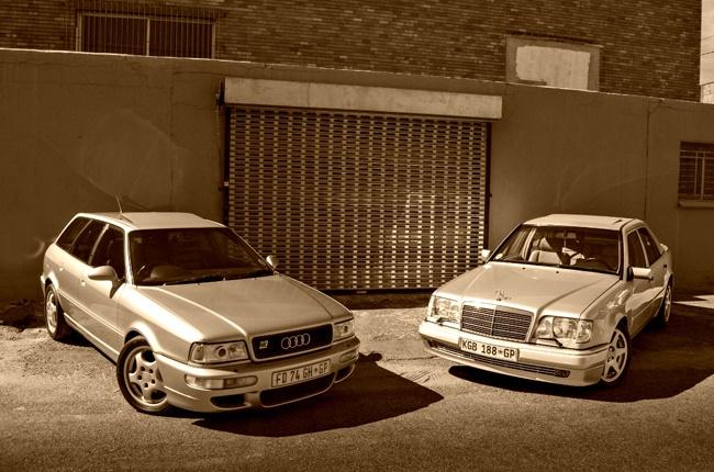 Mercedes-Benz 500 E and Audi RS2 Avant