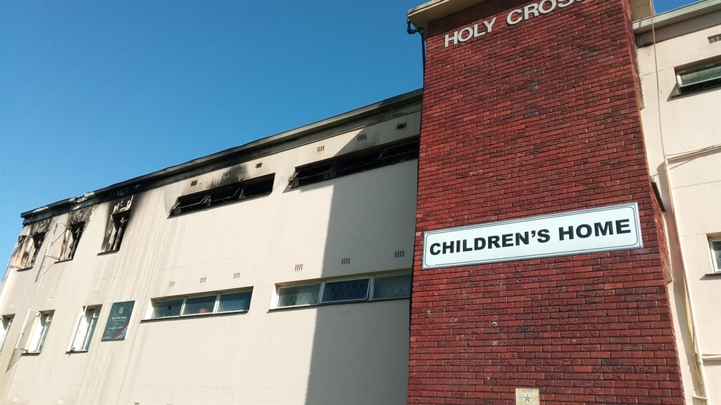 A fire broke out the the Holy Cross Children's Hom