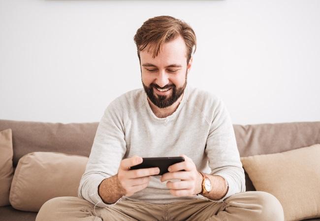 cellphone, man, online puzzles