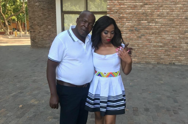Qhamaninande and her father.