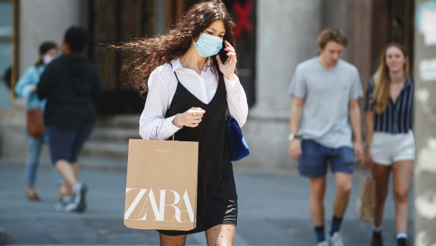 A shopper seen in Zara's home country, Spain. Photo by Xavi Torrent/Getty Images