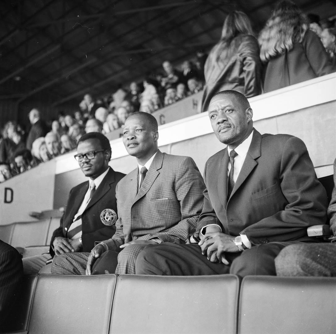 Mangosuthu Buthelezi (KwaZulu), Kaizer Matanzima (Transkei) en Lucas Mangope (Bophuthatswana). Picture: Getty Images