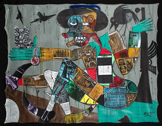 This year, a small selection of the paintings were exhibited, driving home a pertinent point about the contemporary realities of power and discontent. (Blessing Ngobeni)