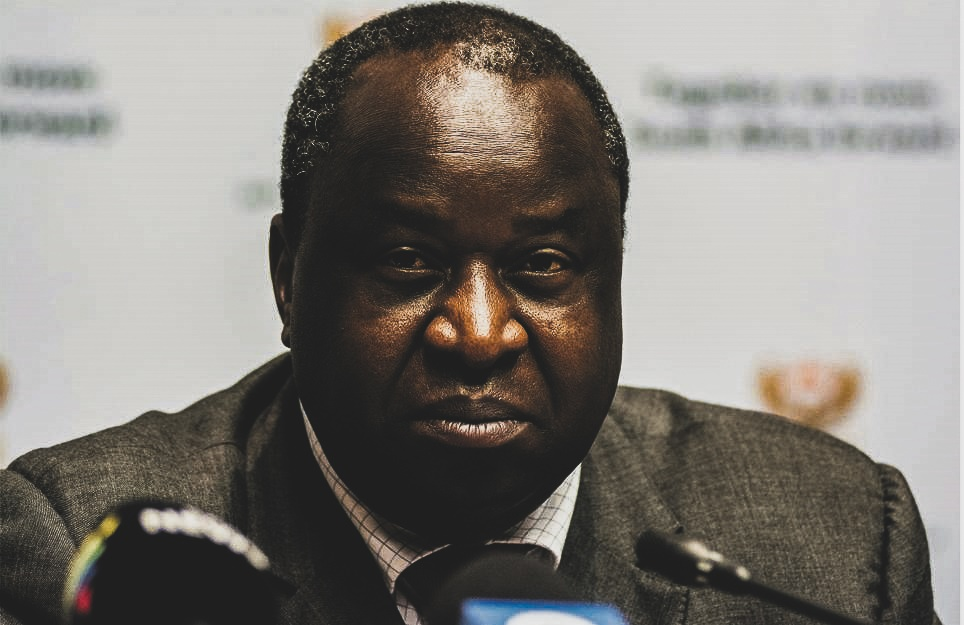Finance Minister Tito Mboweni seems headed for another major clash with South Africa's trade unions as he stands firm on plans to cut the public sector wage bill when he tables his emergency budget on Wednesday. Picture: waldo swiegers / getty images