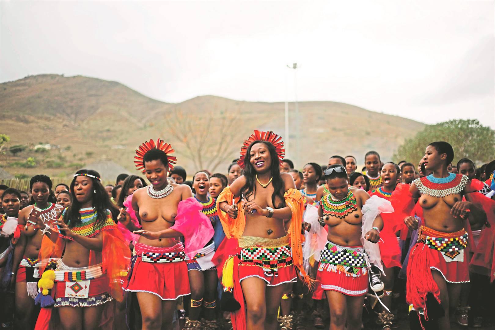 Zulu maidens at a reed dance at Enyokeni Royal Palace in Nongoma, Zululand. Photo: Tebogo Letsie
