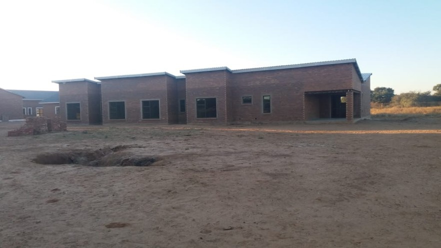 An unfinished care home for elderly people in North West Province funded by the National Lotteries Commission. The photo was taken at the end of May. (GroundUp)