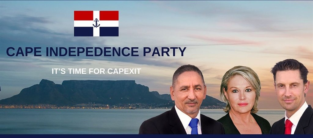 The banner on the website of The Cape Independence Party. Photo: Screengrab
