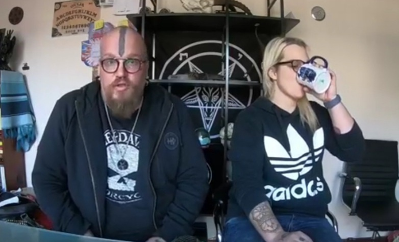 South African Satanic Church founders Riaan Swiegelaar and Adri Norton clear up misconceptions on a Facebook broadcast, from their page on Tuesday June 23, 2020