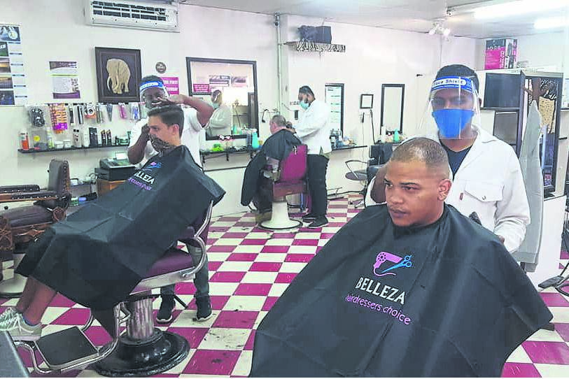 The United Barber Shop has been busy since re-opening on MondayPHOTO: