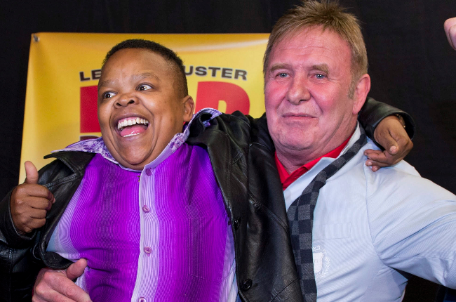 Alfred Ntombela and Leon Schuster (PHOTO: Getty Images/Gallo Images)