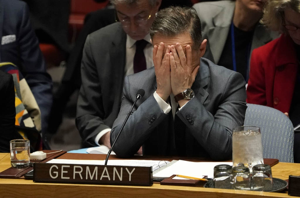 German Foreign Minister Heiko Maas attends a United Nations Security Council meeting at the UN on 27 February 2020 in New York.