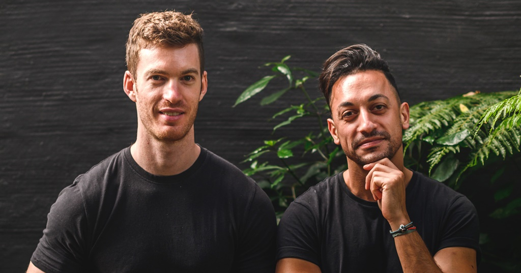 Jake Axelrod  (L) and Anthony Theodosiou (R) run three brands - ONO, Metalab Meals and Pap 'n Chuck - from their ghost kitchen in Sandton, Johannesburg. (Image: Supplied)