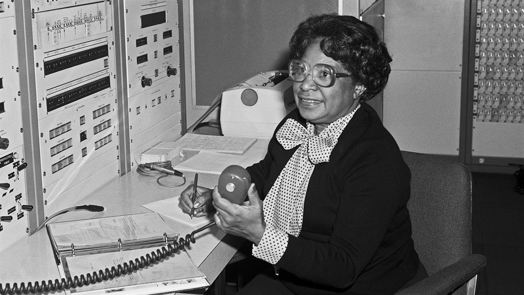 View of Mary Jackson working at NASAs Langley Rese