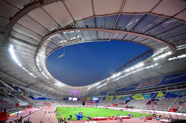 Khalifa International Stadium for the IAAF World Athletics Championships.