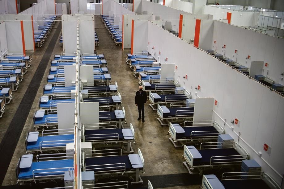 The Covid-19 field hospital at the Cape Town International Convention Centre. Picture: Jaco Marais