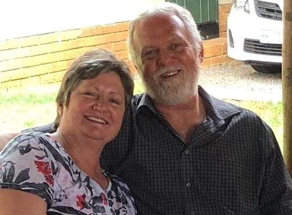 Rehane Potgieter and her husband Hendry.