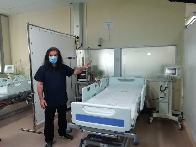 An example of an ICU bed for Covid patients at Charlotte Maxeke Hospital.