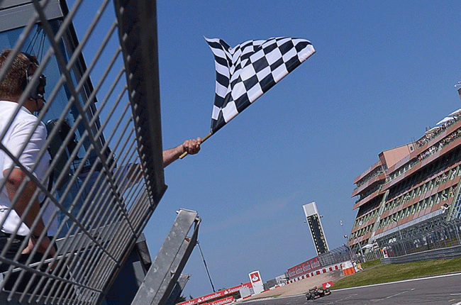 Formula One chequered flag