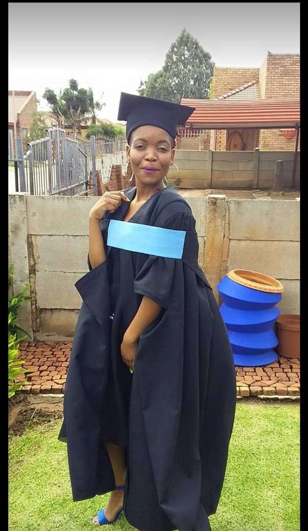 Lesedi Mokgosi (25) graduated with a degree in education from North West University in Mahikeng in 2018. Picture: Supplied