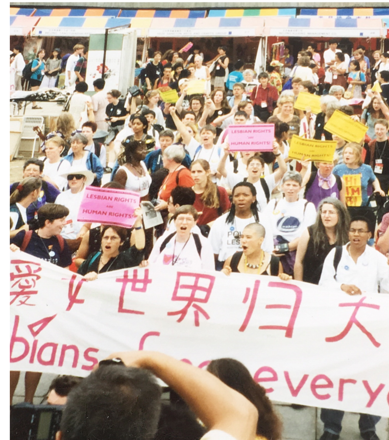"""LESBIANS FREE EVERYONE"" - Banner at the Lesbian"