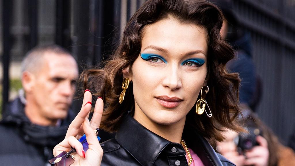 PARIS, FRANCE - MARCH 03: Bella Hadid, beauty deta
