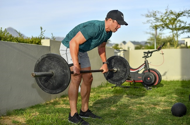 Ruhan Nel, Stormers centre, trains at home. (Gallo Images)