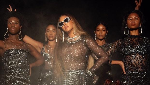 Beyoncé in D.Bleu.Dazzled for Black is King. Image via @dbleudazzled on Instagram