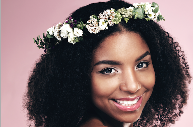 A woman with healthy natural hair