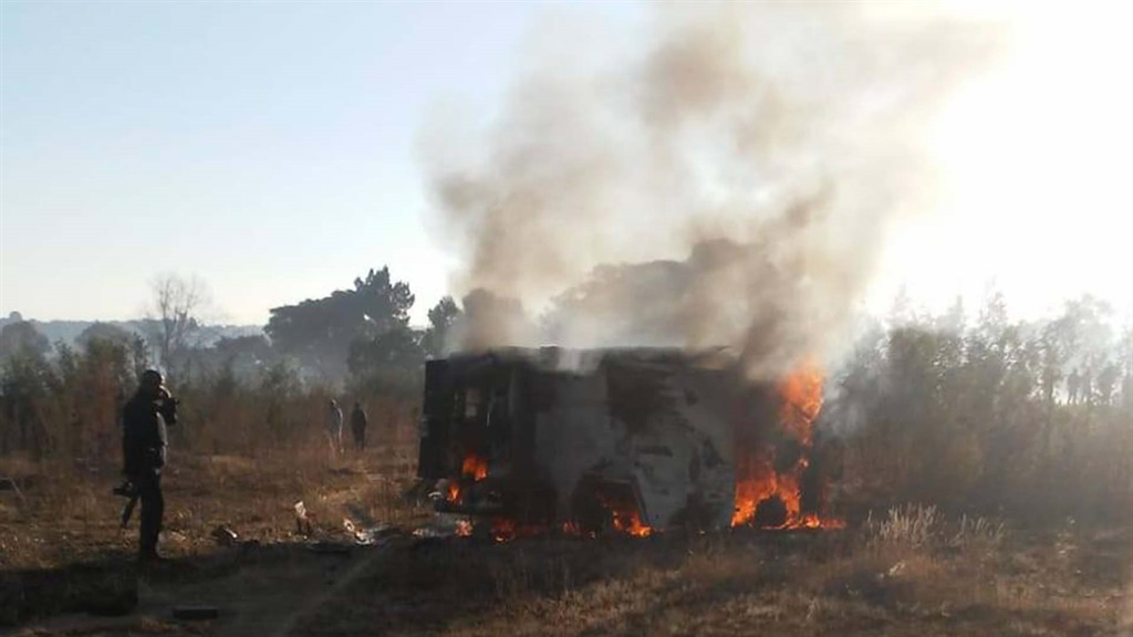 WATCH | Hot money: Cash-in-transit gang's loot goes up in smoke - News24