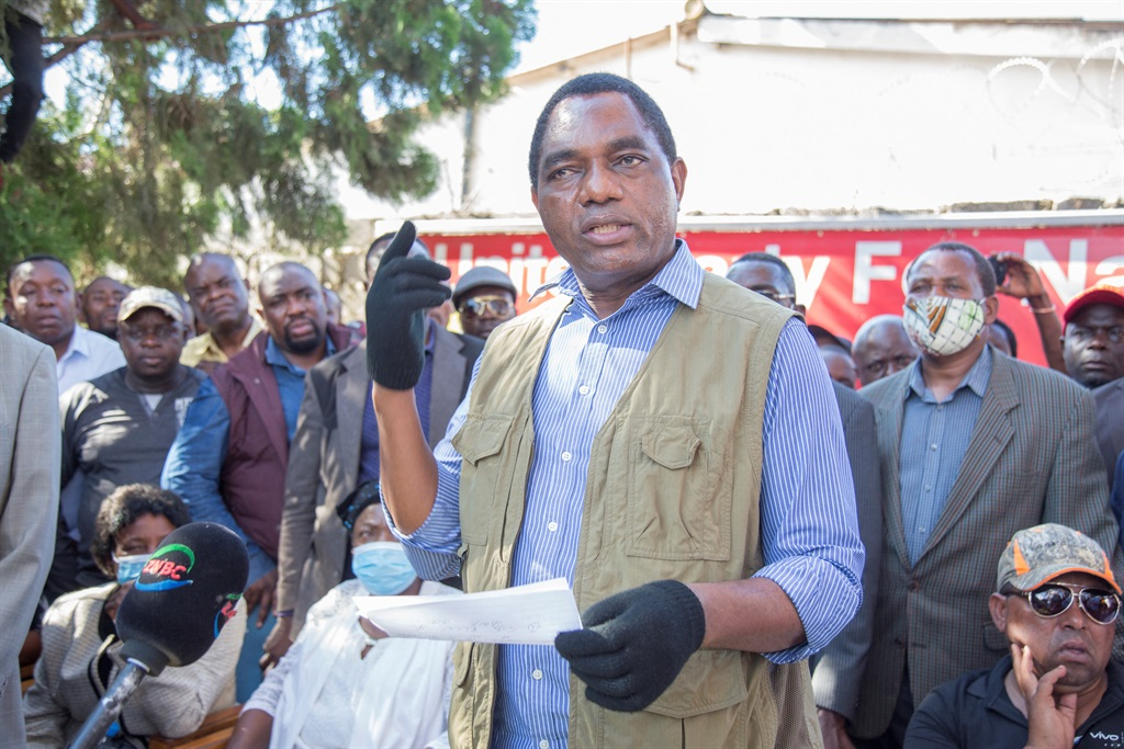 Zambia's Hakainde Hichilema, leader of the United Party for National Development (UPND).