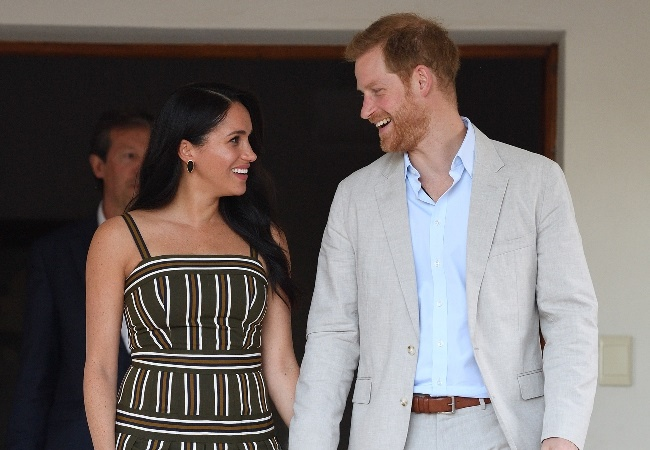 Meghan and Prince Harry during their tour of South