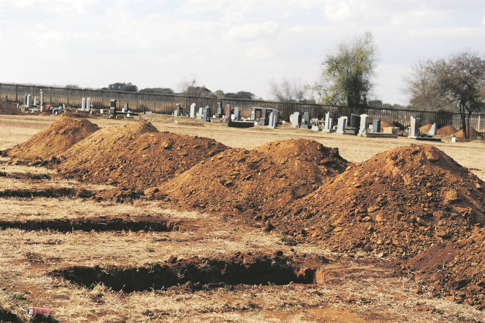Honingnestkrans Cemetery in Pretoria is among the sites where graves are being prepared for Covid-19 deaths in Gauteng. Picture: Rosetta Msimango/City Press