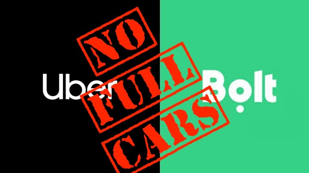 Uber and Bolt will not let you load to 100% capaci