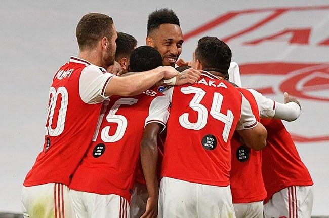 Pierre-Emerick Aubameyang of Arsenal celebrates (Getty).