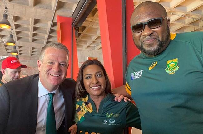 From left: Matt Pearce, Kass Naidoo and Kaunda Ntunja in 2019 (Supplied).